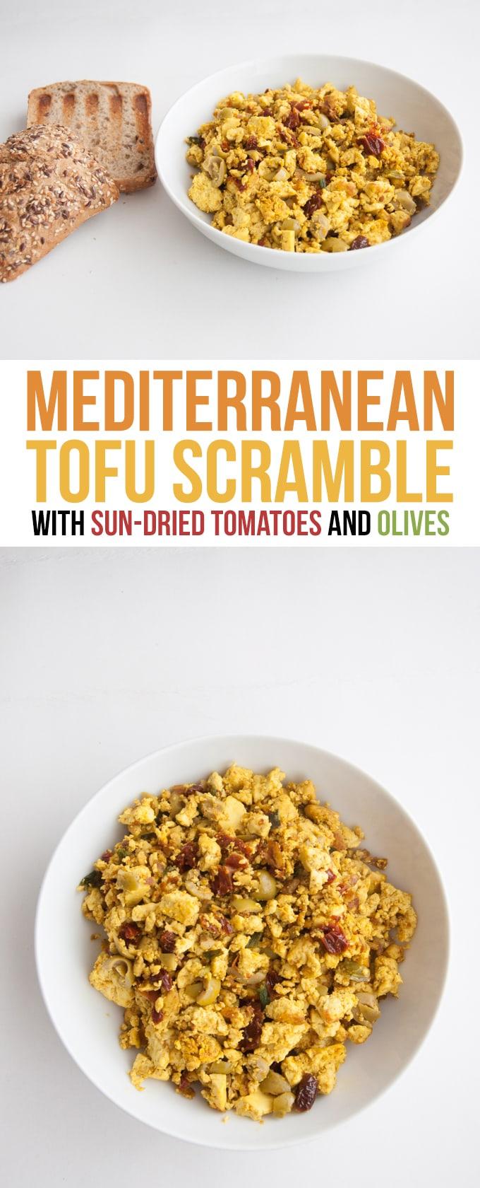 Mediterranean Tofu Scramble   ElephantasticVegan.com