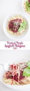 Fruity & Purple Spaghetti Bolognese