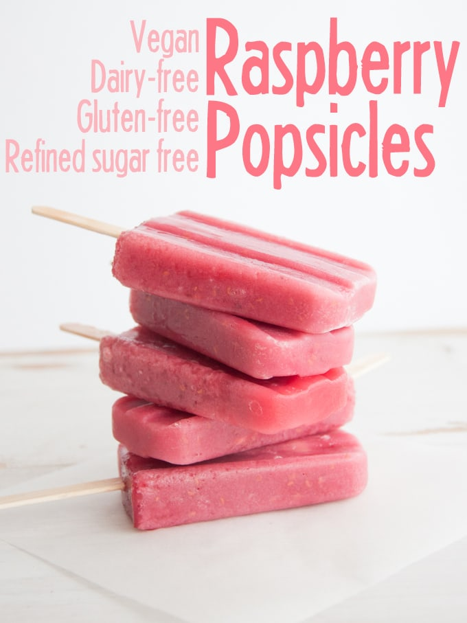 Vegan Raspberry Popsicles