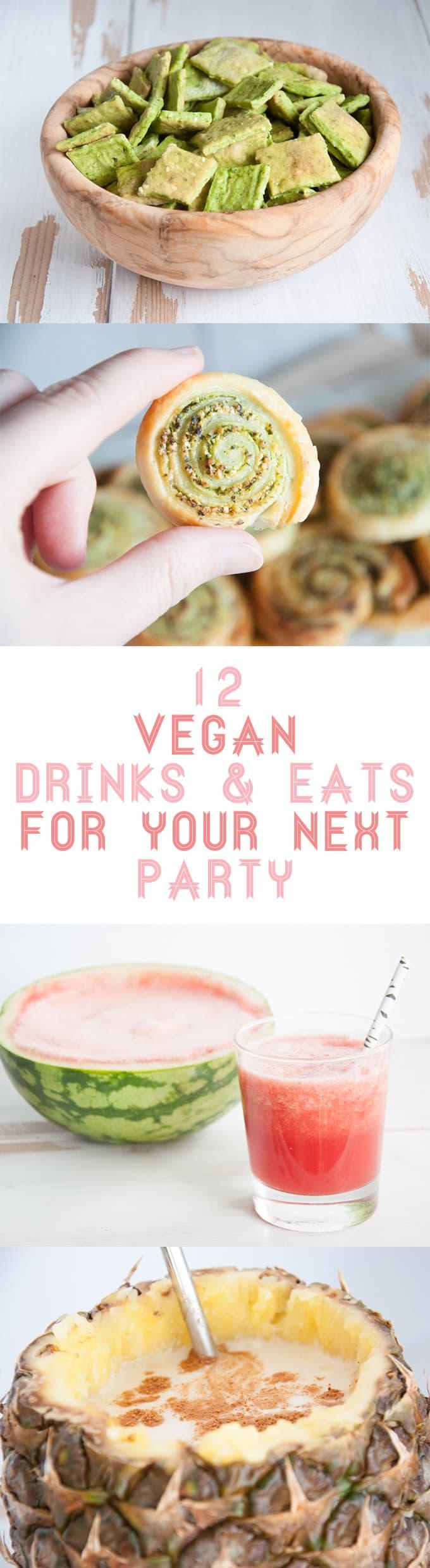 12 Vegan Drinks & Eats for your next party | ElephantasticVegan.com