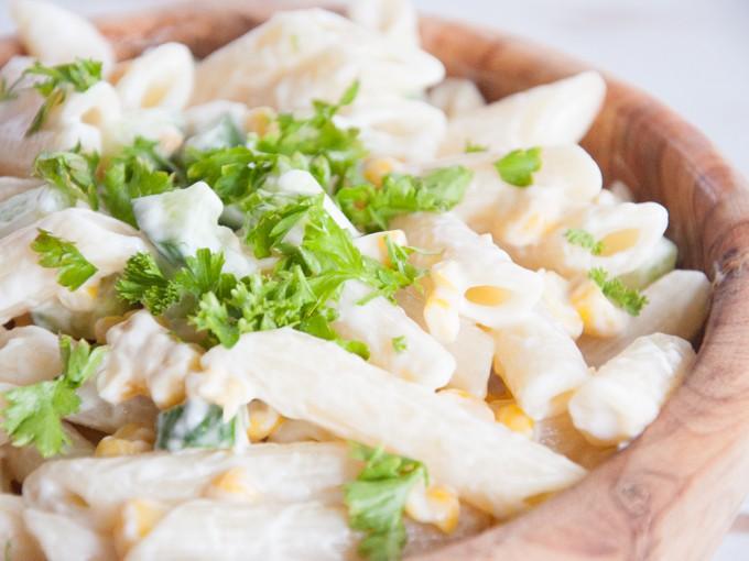 German Noodle Salad | ElephantasticVegan.com