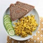 Basic Tofu Scramble - vegan & gluten-free | ElephantasticVegan.com
