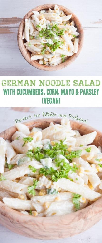 Vegan German Noodle Salad | ElephantasticVegan.com