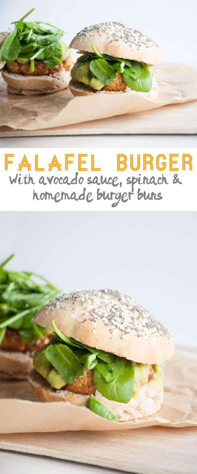 Vegan Falafel Burger | ElephantasticVegan.com