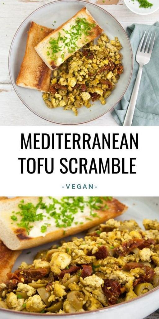 Mediterranean Tofu Scramble