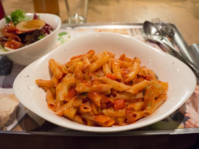 Vegan in Linz - Penne Ratatouille Vapiano | ElephantasticVegan.com