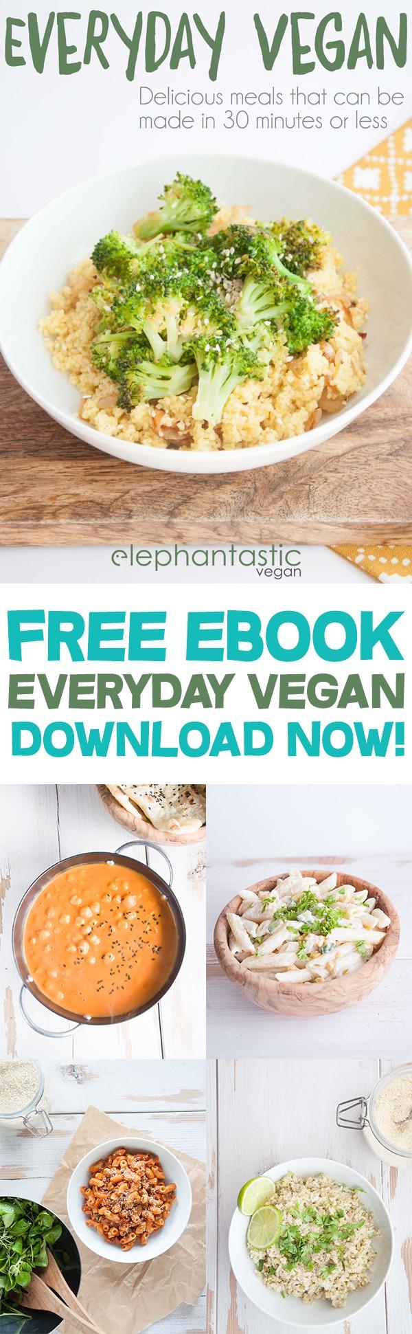 Everyday Vegan - Download your free copy now | ElephantasticVegan.com