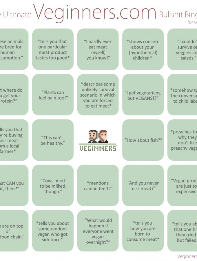 [Veginners] The Ultimate Veginners Bullshit Bingo for Vegans