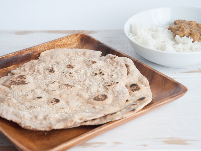 Spelt Chapati - Simple Indian Flatbread | ElephantasticVegan.com