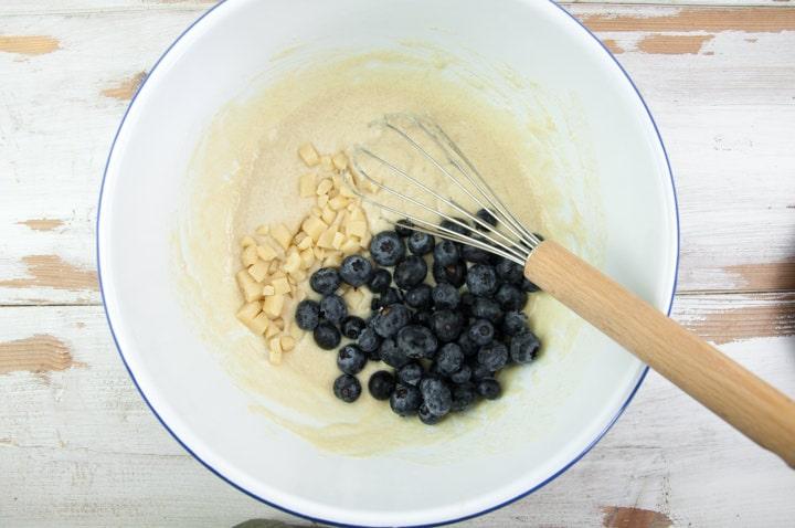 Making Blueberry Marzipan Muffins