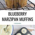 Vegan Blueberry Marzipan Muffins