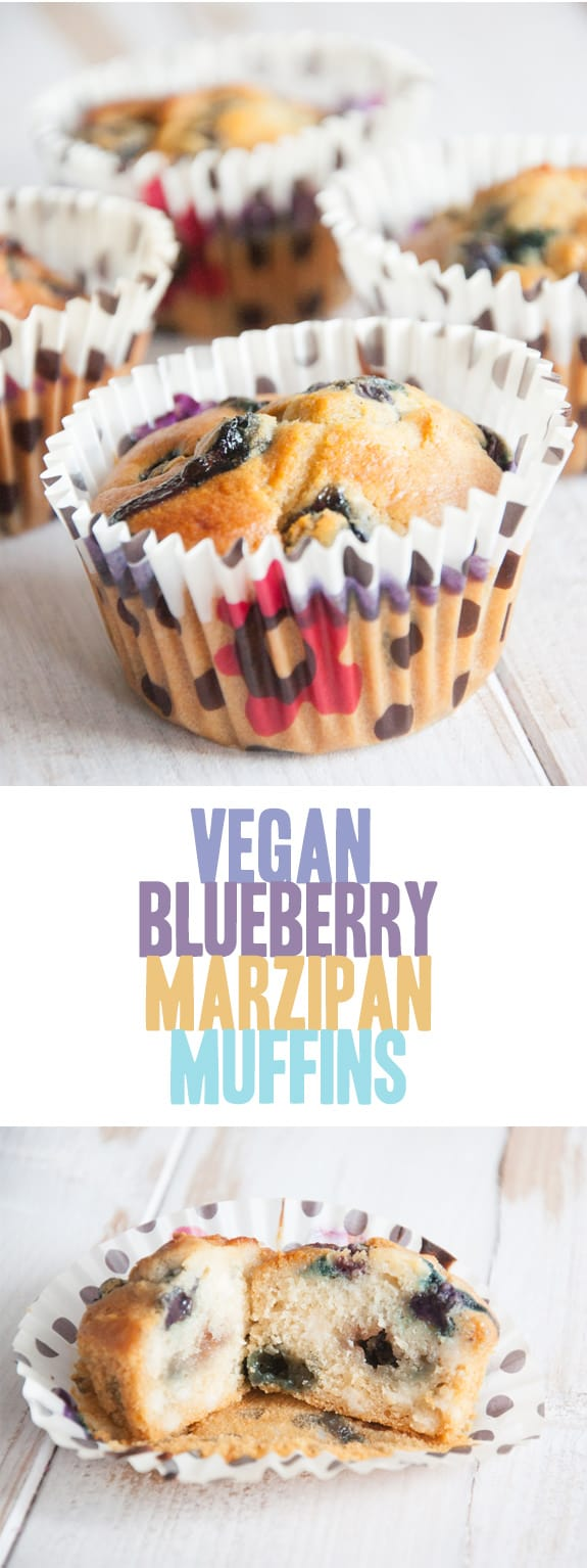 Vegan Blueberry Marzipan Muffins | ElephantasticVegan.com