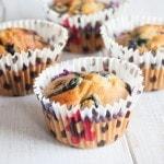 Vegan Blueberry Marzipan Muffins | ElephantasticVegan.com