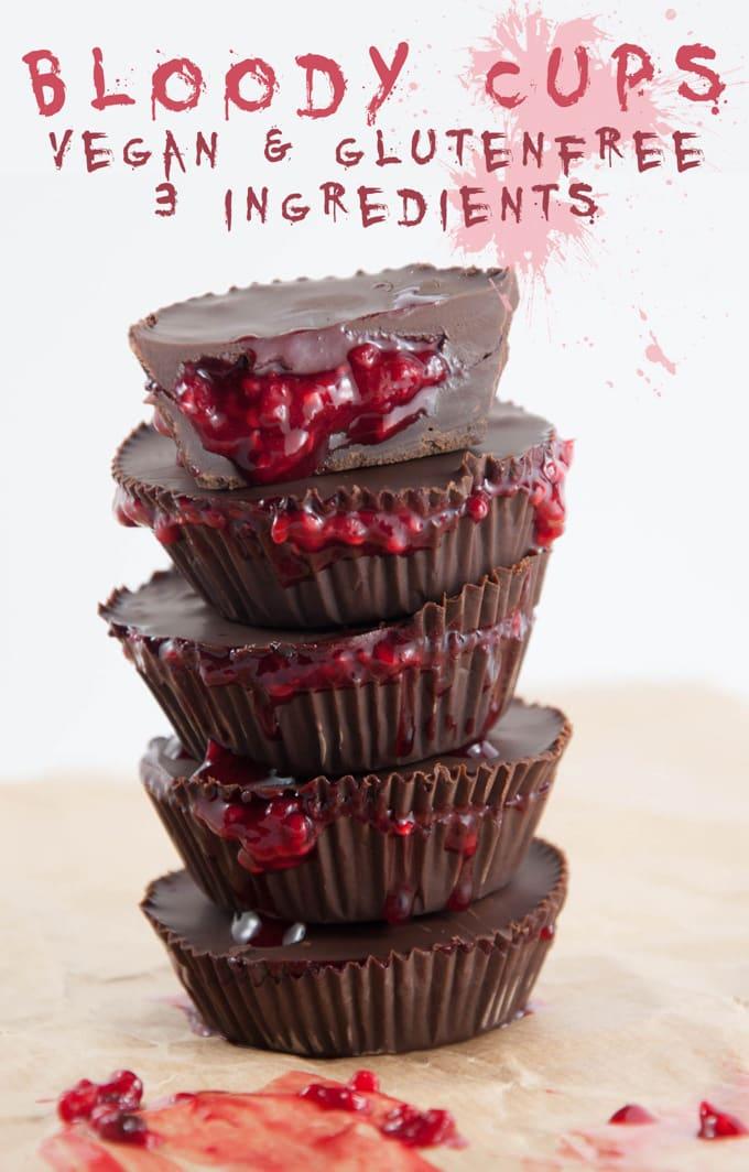 Bloody Cups for Halloween | ElephantasticVegan.com