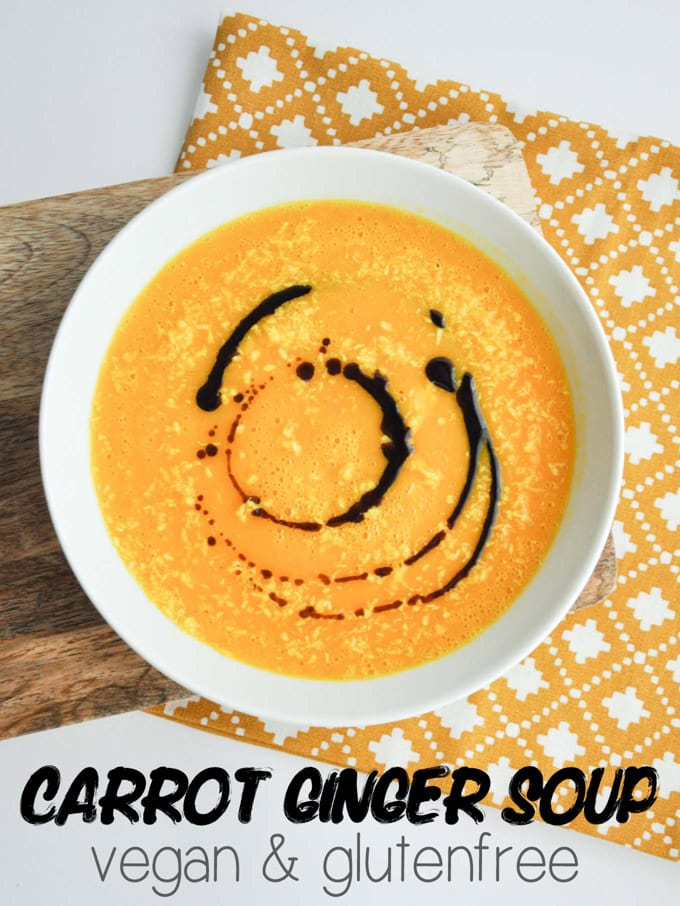 Vegan Carrot Ginger Soup | ElephantasticVegan.com