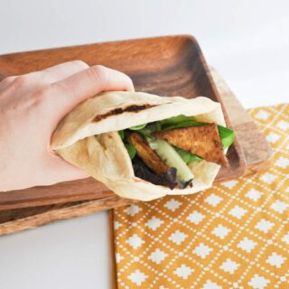 Crispy Tofu Wrap with Homemade Tortillas & Avocado Mayo