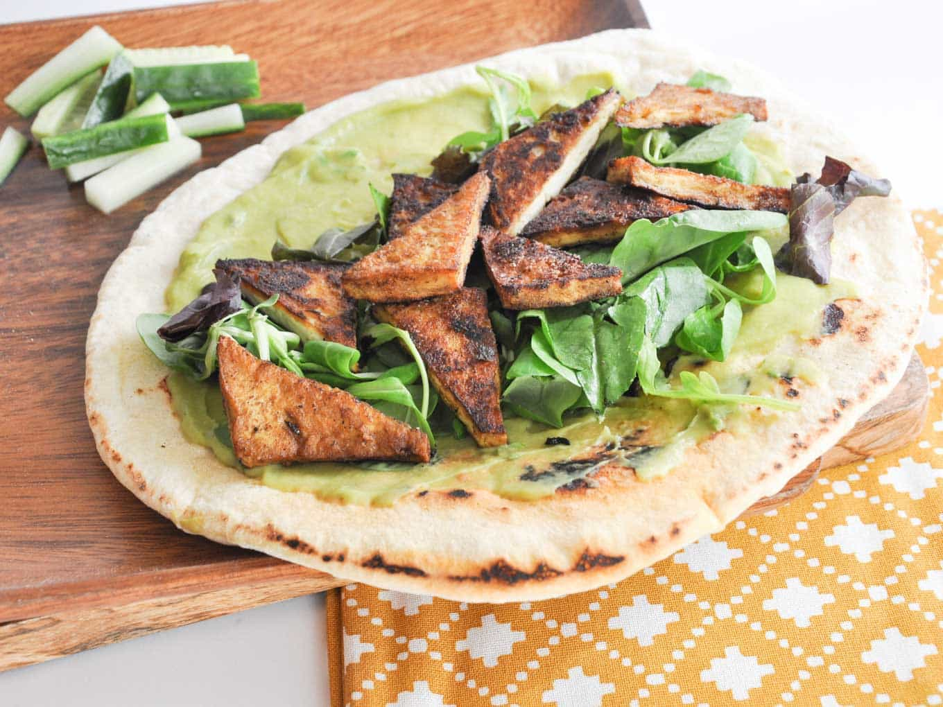 Crispy Tofu Wrap with Homemade Tortillas & Avocado Mayo ...