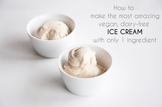 1 Ingredient Ice Cream (vegan, gluten-free, dairy-free, refined sugar-free) | ElephantasticVegan.com