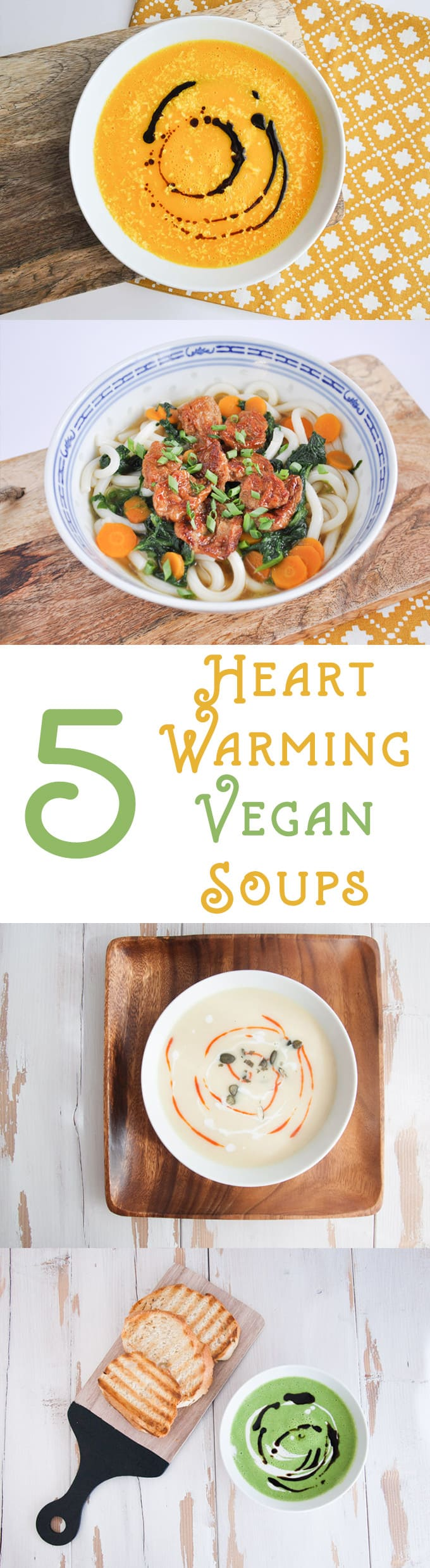 5 Heart-Warming Vegan Soups | ElephantasticVegan.com