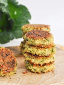 Green Falafel with collard greens