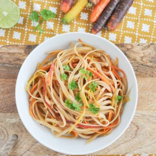 Lime Rainbow Linguine
