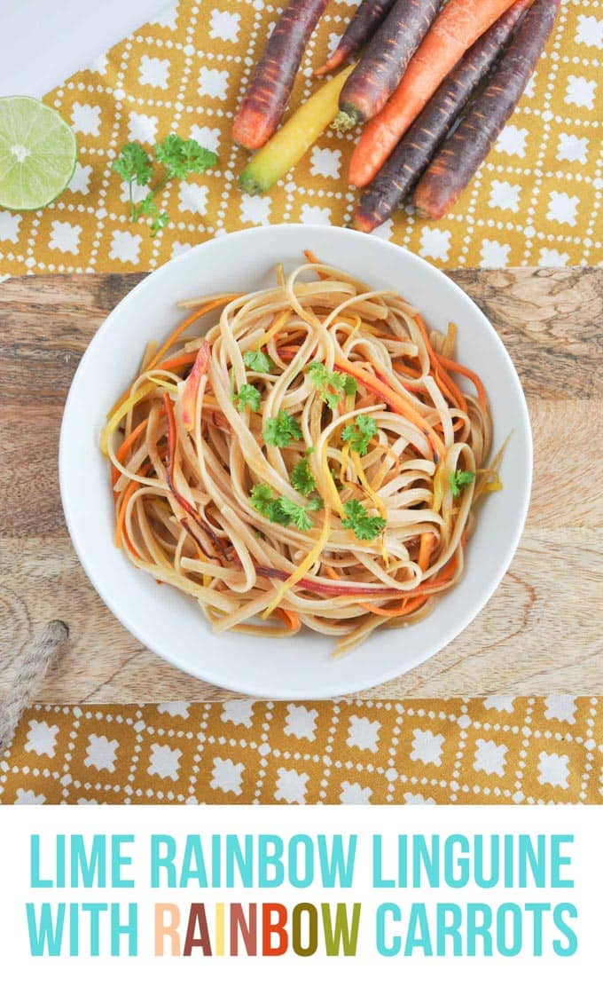 Lime Rainbow Linguine | ElephantasticVegan.com