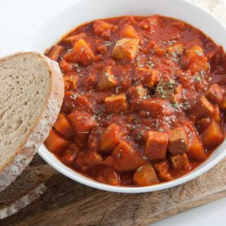 Vegan Goulash with Smoked Tofu & Potatoes