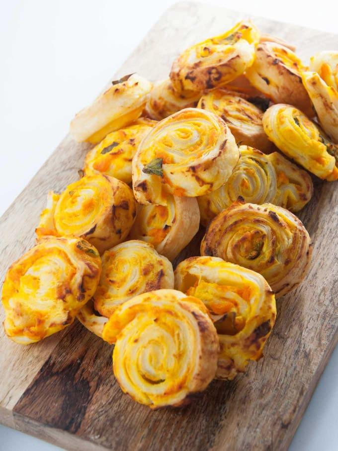 Vegan Pumpkin Basil Pinwheels Recipe
