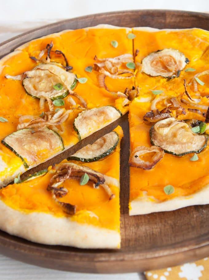 Vegan Pumpkin Pizza | ElephantasticVegan.com