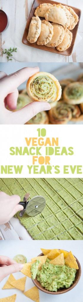 10 Vegan Snack Ideas for New Year's Eve | ElephantasticVegan.com