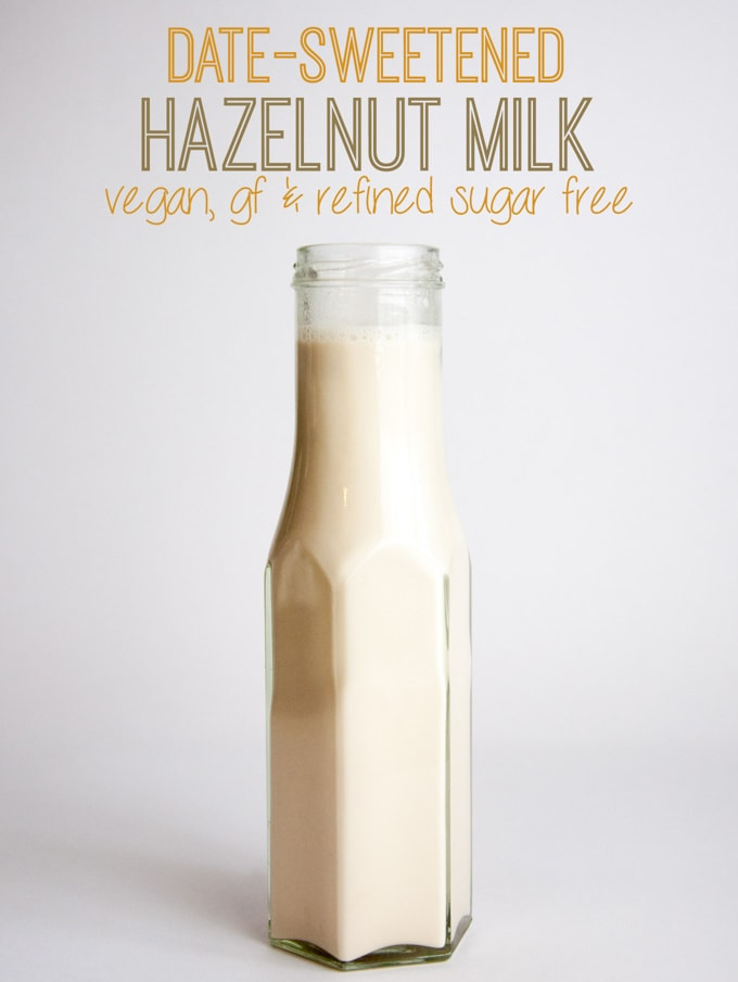 Date-Sweetened Hazelnut Milk | ElephantasticVegan.com