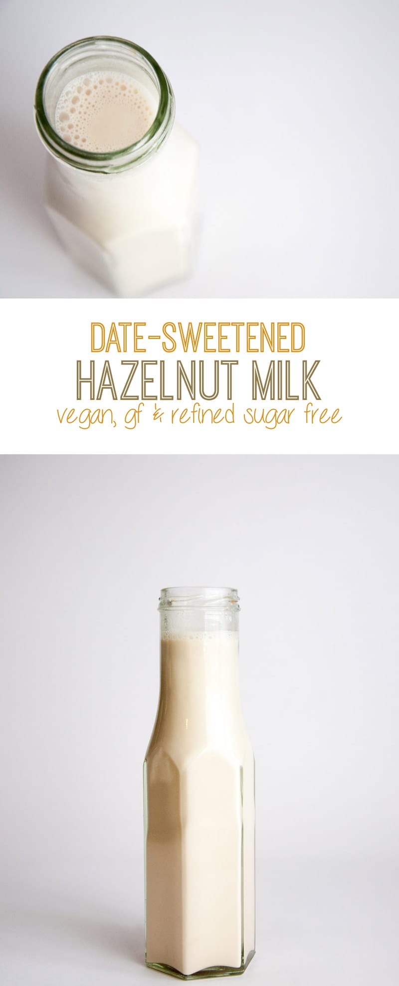 Date-Sweetened Hazelnut Milk   ElephantasticVegan.com