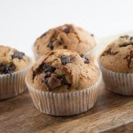 Never Come Empty Handed Chocolate Chunk Muffins | ElephantasticVegan.com
