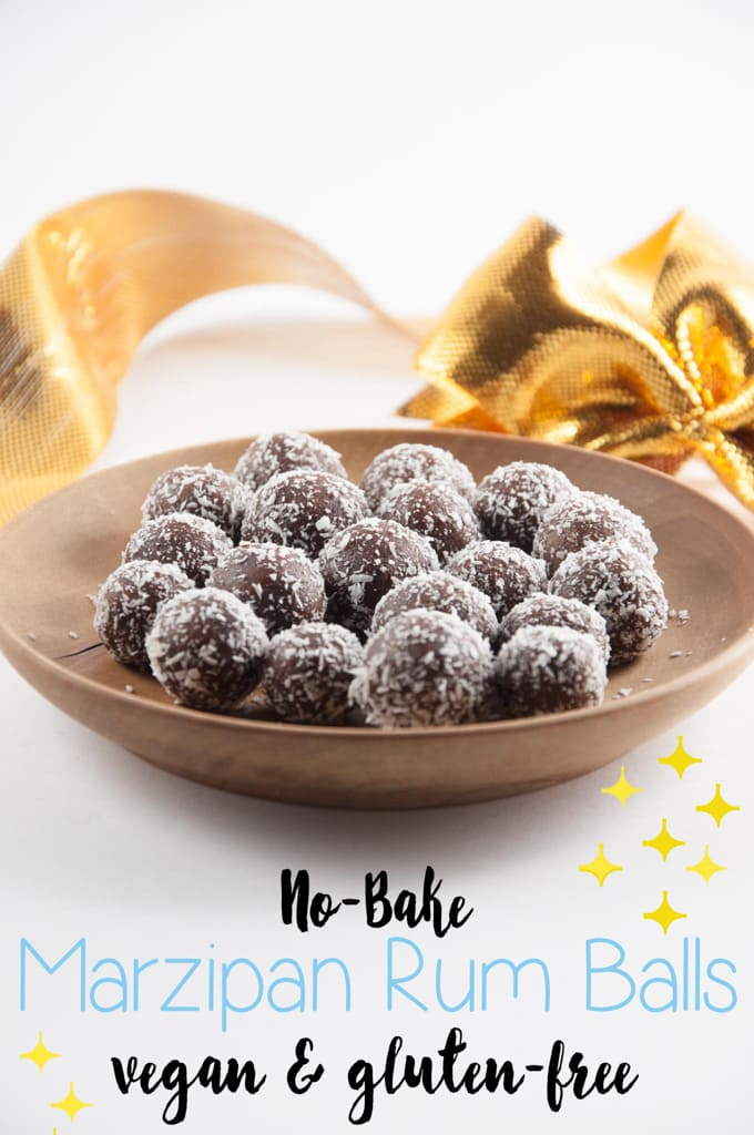 No-Bake Marzipan Rum Balls | ElephantasticVegan.com