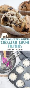 Never Come Empty Handed Vegan Chocolate Chunk Muffins