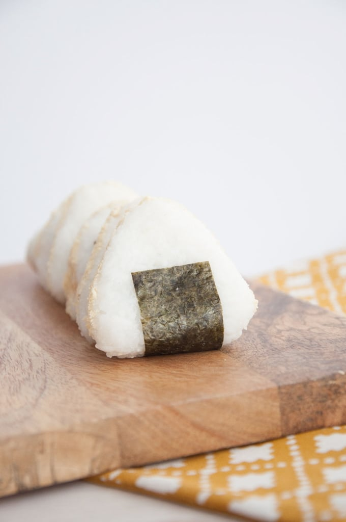 Vegan Parmesan Crusted Peanut Butter Onigiri (Japanese Rice Balls)