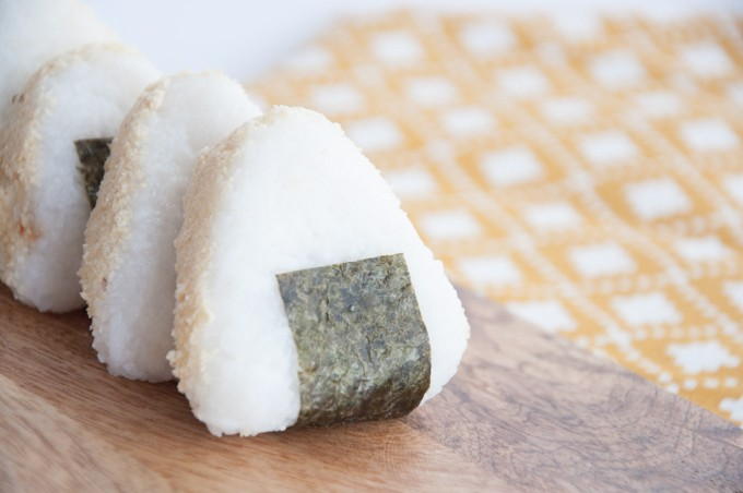 Peanut Butter Filled Onigiri | Elephantasticvegan.com