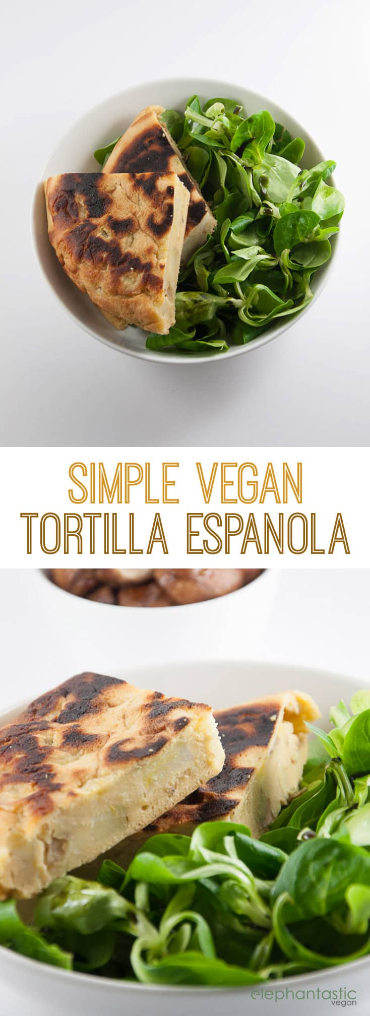 Simple Vegan Tortilla Espanola | ElephantasticVegan.com