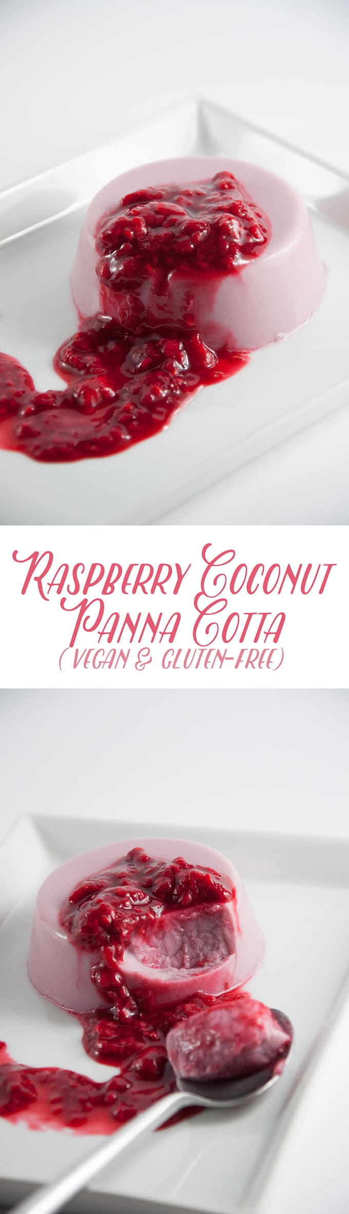 Vegan Raspberry Coconut Panna Cotta | ElephantasticVegan.com
