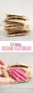 Crispy Sesame Flatbread   ElephantasticVegan.com
