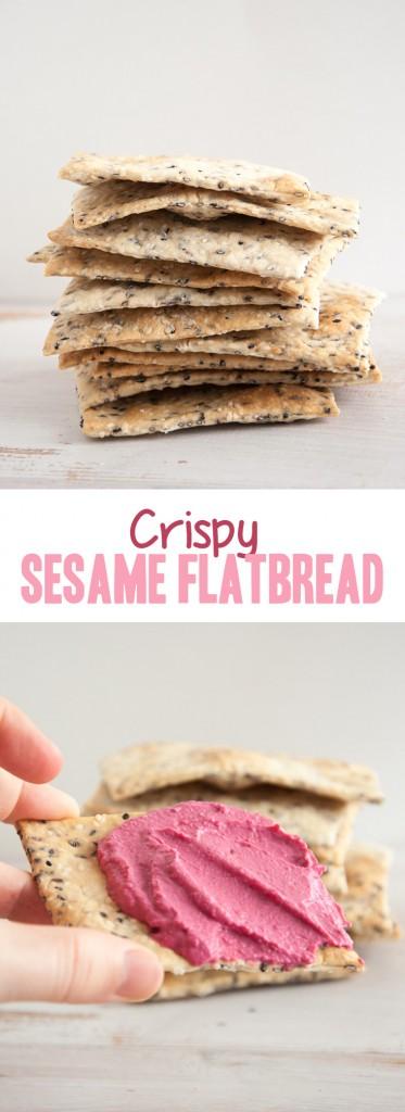 Crispy Sesame Flatbread | ElephantasticVegan.com