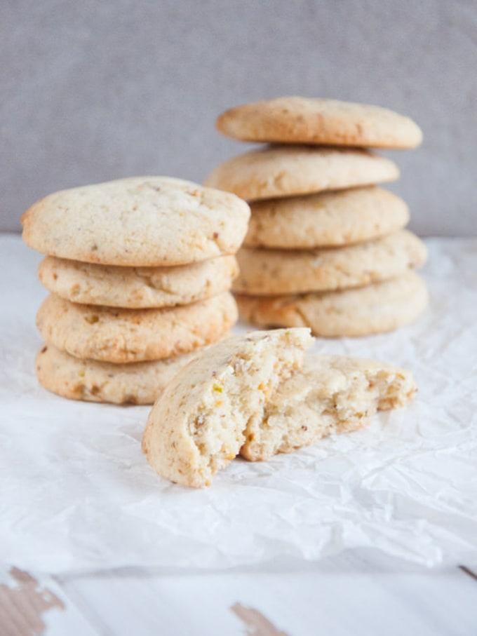 Vegan Pistachio Rosewater Cookies   ElephantasticVegan.com