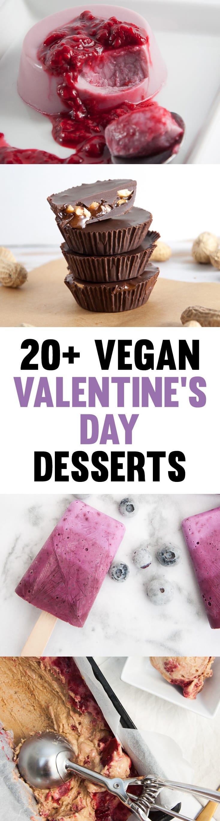 20+ Vegan Valentine's Day Desserts to make for your loved ones! | ElephantasticVegan.com #vegan #valentinesday #desserts #sweets #plantbased