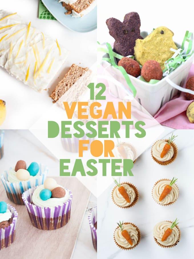 12 Vegan Easter Desserts |ElephantasticVegan.com