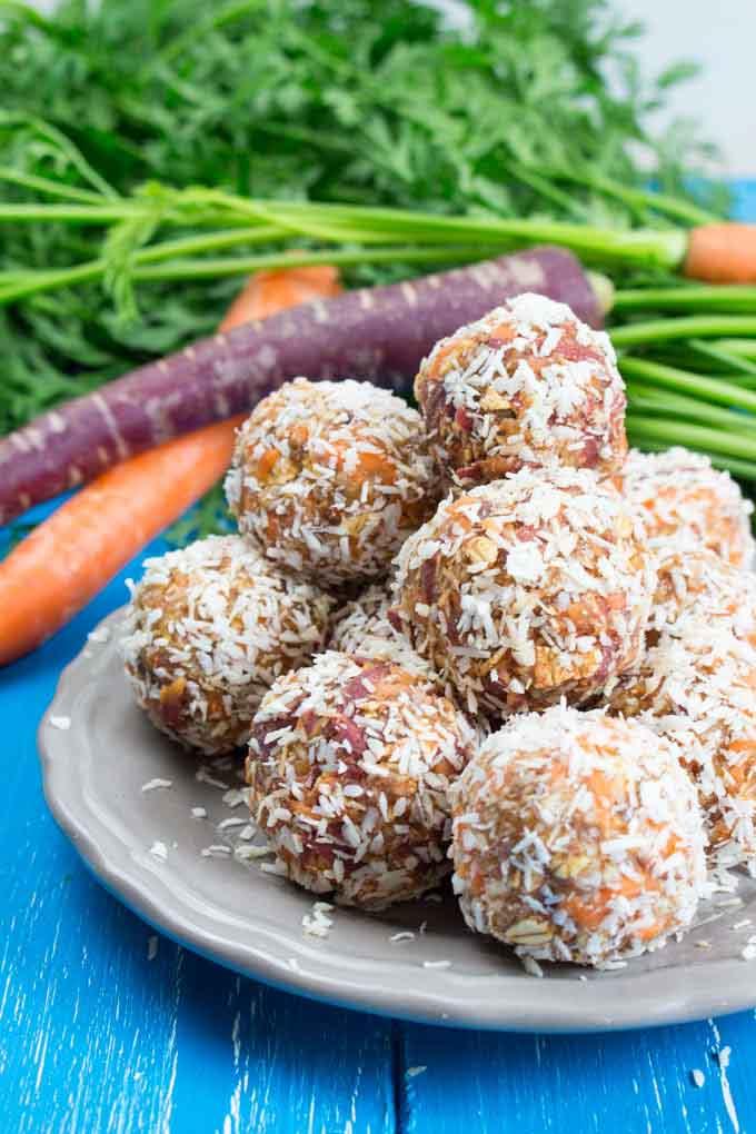 Carrot No-Bake Energy Bites by Veganheaven