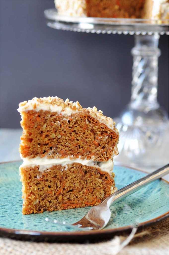 Vegan Hazelnut Carrot Cake by Veganosity