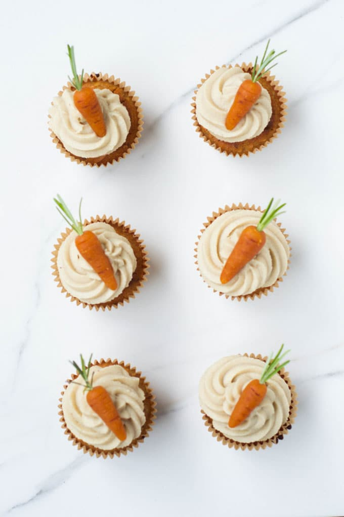 Carrot Cake Cupcakes by Wallflower Girl