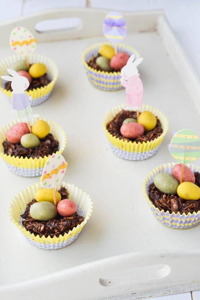Chocolate Easter Egg Nests by Wallflower Girl