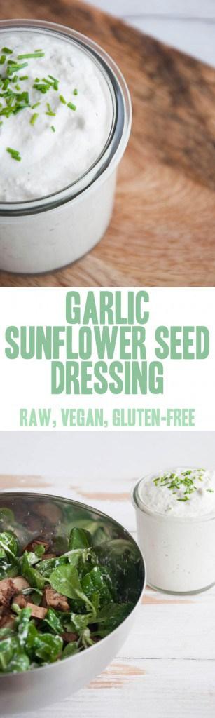 Garlic Sunflower Seed Dressing | ElephantasticVegan.com