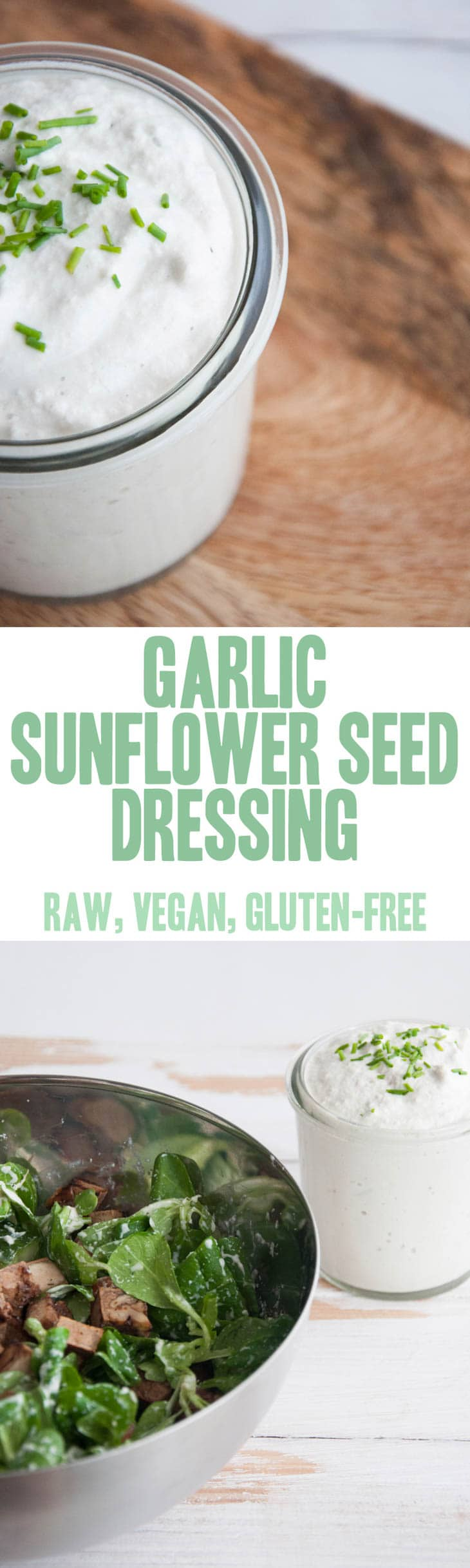 Garlic Sunflower Seed Dressing | ElephantasticVegan.com